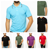 Men's Polo T-Shirt D&H 100% Cotton short sleeve Tipped Collar Tops