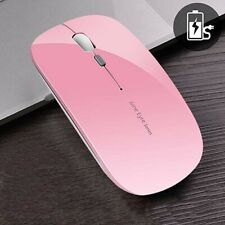 Rechargeable Wireless Mouse PINK Picktech Q5 Slim 2.4G Portable Optical Silent