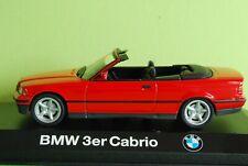 1:43 Minichamps BMW 3-er E36 Cabrio rouge avec boite vitrine