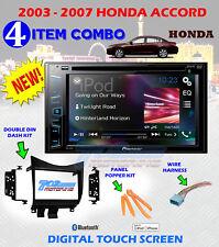 03 - 07 HONDA ACCORD PIONEER TOUCHSCREN AM FM CD DVD BT USB CAR RADIO STEREO PKG