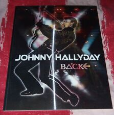 JOHNNY HALLYDAY PROGRAMME OFFICIEL CONCERT FLASHBACK TOUR COUVERTURE HOLOGRAMME