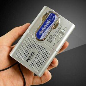 Mini Portable Pocket AM/FM Receiver Radio Antenna Built in Speaker Player