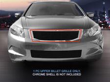 For 2008-2010 Honda Accord Sedan Black Billet Grille Upper Grill Insert Fedar