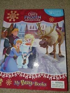 Disney Olaf's Frozen Adventure My Busy Books story figurines playmat kids toy 3+