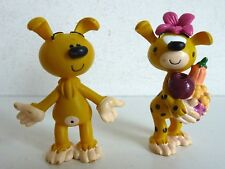 PLASTOY - MARSU 2000 - 2 FIGURINES MARSUPILAMI 5CM - SANS QUEUE
