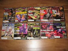 GiG 10 Issue Lot Moby Flea P-Funk Wallflowers Beck Mixing Live Reviews Interview