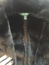 BNWOT Ralph Lauren Faux Shearling Coat, Black - Size M