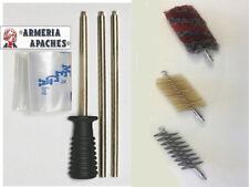 Kit Pulizia per Armi Completo componibile canna Fucile Carabina Scovoli Caccia