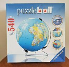 Complete Ravensburger 540 piece 22cm 3D Jigsaw Earth Globe World Puzzle Ball