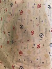 Baby Boy Sports Print Fitted Crib Sheet