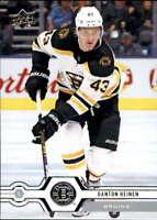 2019-20 Upper Deck #260 Danton Heinen Boston Bruins
