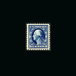 US Stamp Regular Issues Mint OG & H, Super b S#466 Very Deep color, dark blue va