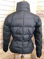 Eddie Bauer Goose Down Women's Black Puffer Winter Warm Jacket M Size Zip Front
