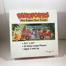 DINOFOURS Fire Engine Floor Puzzle