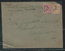FRENCH MOROCCO  (PP2709B) 1920 10C+15C SURCH COVER TO USA