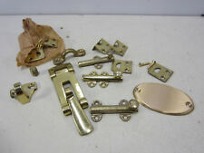Lot of Brass Boat Hardware- Cabinet Latches & Other