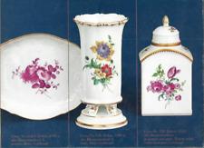 Meissen 18th Century Flower Porcelain China Brochure Vintage in German