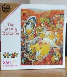 Falcon Young Ballerina Bill Bell 850 Jigsaw Puzzle Comic Art Cat Dance. 1 short.