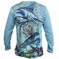 wahoo Performance Fishing Shirt Long Sleeve UPF Moisture Long Sleeve