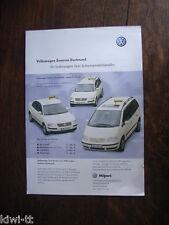 VOLKSWAGEN taxi (centro VW Dortmund) Prospetto/brochure/DEPLIANT, D