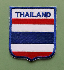 NATIONAL FLAG COUNTRY SHIELD SEW ON / IRON ON EMBROIDERED PATCH:- THAILAND
