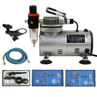 Multi-Function 3 Airbrush Compressor Kit Dual-Action Spray Set Tattoo Nail Art