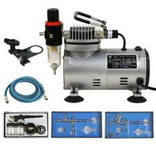 3 Airbrush Compressor Kit Dual Action Spray Air Brush Tattoo Nail Tool