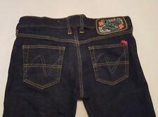 Nolita Womens Italian Jeans Dark Blue Size 28