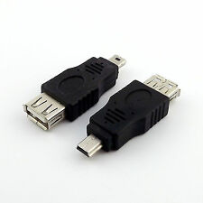 10pcs USB 2.0 A Female Jack to Mini USB B 5 Pin Male Plug OTG Adapter Connector