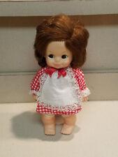 Vintage Horsman Dolls 1974 Redhead Hard Plastic Doll In Checkered Dress