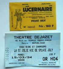 SYLVIE JOLY USED SPECTACLE TICKET / BILLET / PLACE - 1994