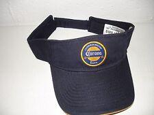 Corona Extra Miles Away From Ordinary Beer Visor Hat Beach Golf Bar Blue NEW!