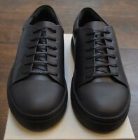 COS women's black leather sneakers lace up low top price tag of $135 NIB
