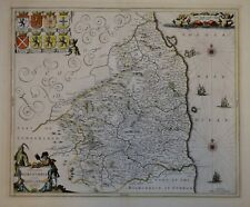 COMITATUS NORTHUMBRIA VERNACULE NORTHUMBERLAND BY JANSSONIUS. 1646.