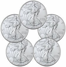 Lot of 5 - 2020 1 oz American Silver Eagle $1 Coins GEM BU SKU59438