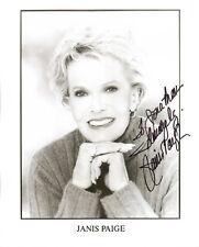 JANIS PAIGE - Actress - Silk Stockings / Of Human Bondage - Autograph Photo