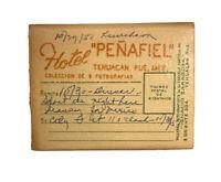 Vintage Hotel Penafiel, Tehuacan, Pueblo, Mexico Souvenir Postcard Folder