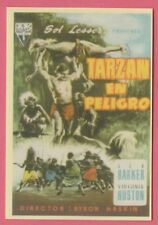 Spanish Pocket Calendar #228 Tarzan's Peril Film Poster Lex Barker Ginny Huston