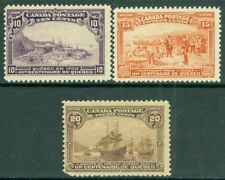 EDW1949SELL : CANADA 1908 Scott #100-03 Mint No Gum Fresh Catalog $675.00.