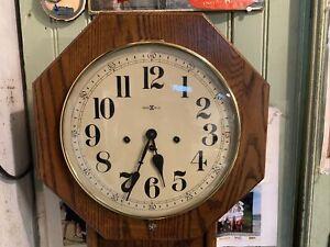 Howard Miller Mechanical Regulator Wall Clock Westminster Quarter Hour Chime Key
