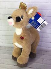 Build a Bear Rudolph Christmas Clarice Reindeer Plush Stuffed Animal Gold Bow