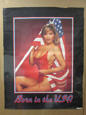 Vintage Born in the USA poster hot girl car garage man cave 7433