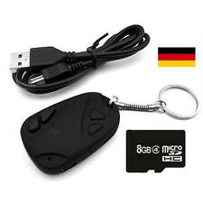USB Kamera Schlüsselanhänger Autoschlüssel Spy Cam Camcorder 8 GB Karte Adapter