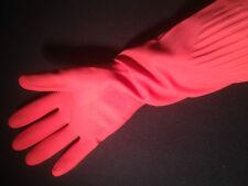 Haushaltshandschuhe rosa 37cm extra lang Gr.M Gummihandschuhe rubber gloves #41