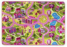 Kinderteppich Spielteppich Straßenteppich Mädchen Sweet Village Prinzessin Rosa