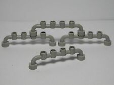 Lego Legos - Set of 4 Bar 1 x 6 with Studs Closed Light Gray