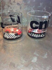 Pair Vnt.Indy Car & Brickyard Classic Plastic Cup HOWW MFG. Lincoln Tech ,CNI