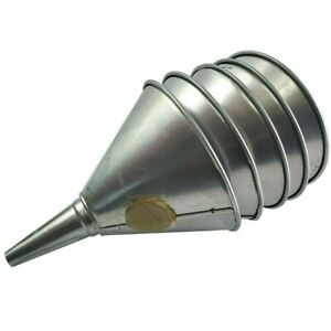 1 Qt Galvanized Steel Oil Funnels with Screens (5ct)