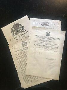 Original MANUSCRIPTS~ITALY-1774;1776;1791;1682 =LOMBARDY, VENETIA=4dcs#02008