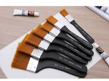 Marie's 7pcs Nylon Flat Hair Artists Painting Brush Watercolor Oil Art Supplies
